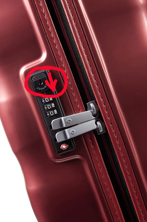 Сброс кода у чемоданов Samsonite коллекция Engenero